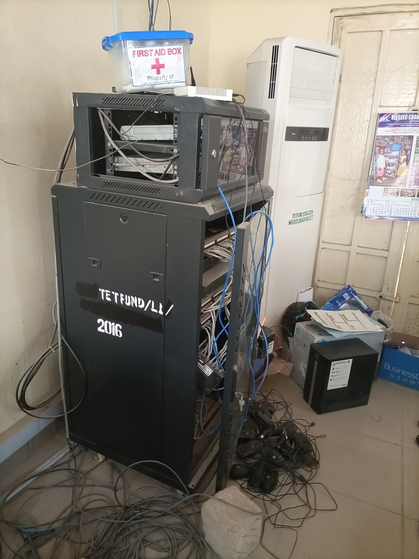E-Library Server Rack Internet Equipment 2016 TetFund Interventions